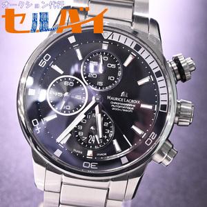 本物 極上品 モーリスラクロア 特殊インナーベゼルロック機構 ダイヴィング クロノグラフ メンズウォッチ 男性用自動巻腕時計 箱 ギャラ付