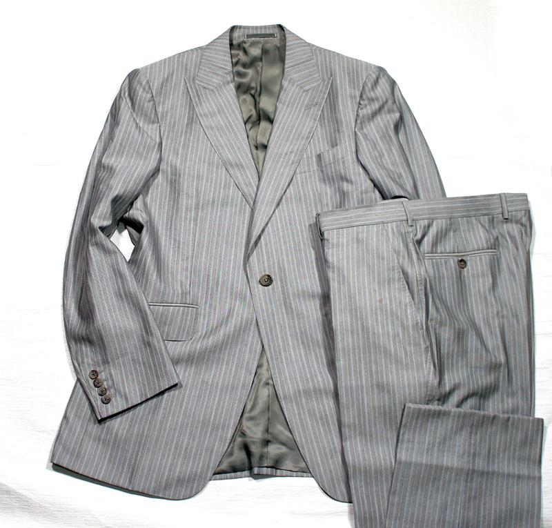 Dunhillダンヒル最高峰シングルスーツ50シルク【超美品】秋物 手縫い正規プレタポルテコレクション