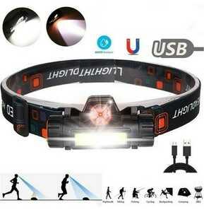 【G41N‐1T】LED ヘッドライト ヘッドランプ 小型 強力 充電式 明るい USB キャンプ 作業 災害 自転車 ジョギング 釣り