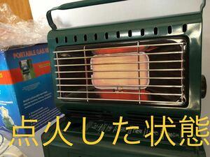 カセットガスストーブ ポータブルガスヒーター 中古 ガスヒーター ストーブ コンロ 角度調節可能 1台2役