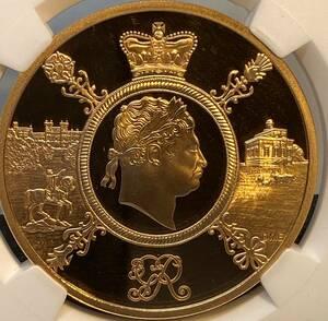 【限定発行250枚/最高鑑定金貨/銀貨・白銅貨付き】イギリス 2020年 ジョージ三世 金貨 5ポンド NGC PF70UC 限定発行