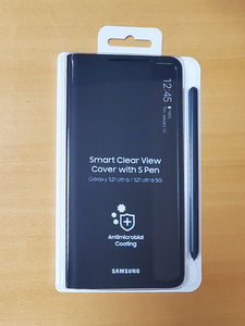 Galaxy S21 Ultra 5G Sペン搭載 スマートクリアビュー Sペンホルダー付 ケース | SMART CLEAR VIEW COVER with S Pen EF-ZG99P | ブラック
