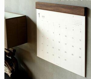 【Hacoa】 ハコア  木製  ウォールナット 木製壁掛けカレンダー Wall Calendar