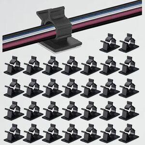 新品 50個入 ケ-ブルクリップ 9-9G by MAVEEK 4階段調節可能コ-ドクリップ ケ-ブルホルダ- コMZZ6