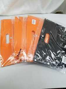 2517 4個 折りたたみ椅子 黒1個.オレンジ3個