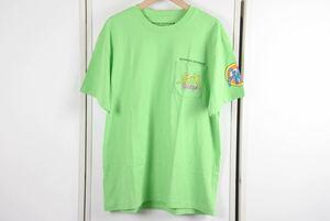 CHROME HEARTS クロムハーツ Tシャツ 半袖 MATTYBOY マッティボーイ SEX RECORDS ライムグリーン サイズ XL メンズ 未使用 35600 正規品
