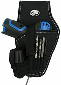 電動ドリルタイプ 工具用ウエストバッグ 大工 電工用 作業効率の良い機能設計 工具差し 工具袋 ポーチ腰袋 ベルトポーチ ツー