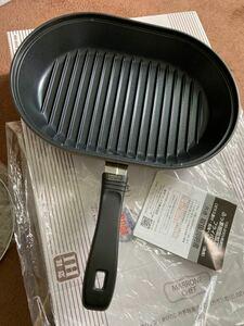 マローネシェフ IH対応 お手軽魚焼きパン     (ガラス蓋付き) 22×32センチ フライパン新品未使用