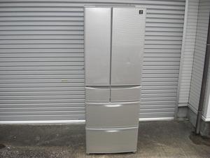 シャープ SJ-F462E-S プラズマクラスターフレンチドア 冷蔵庫 6ドア☆455L シルバー 2019年製