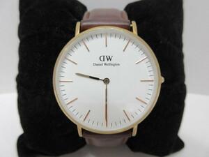 時計祭 Daniel Wellington ダニエルウェリントン B15 白文字盤 可動OK 純正ベルト クォーツ メンズ腕時計
