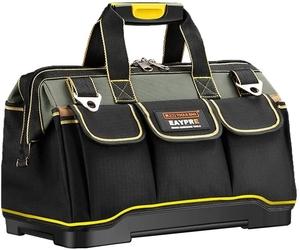 「送料無料」 ツールバッグ 5 工具袋 ショルダー ベルト付 肩掛け 手提げ 大口収納 差し入れ 底部特化 プラスチック 防水 29x19x19CM