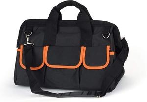 「送料無料」 ツールバッグ 8 工具バッグ 工具差し入れ 幅40cm 道具袋 大口収納 手提げ 作業用 折りたたみ 撥水処理 工具収納