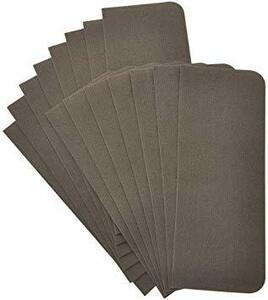 ブラウン SUGGEST 階段マット 15枚 55×22cm 選べるカラー 吸着 滑り止め 洗える (ブラウン)