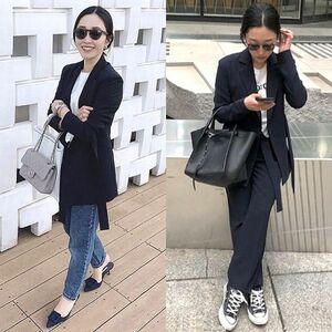 定価34,100円 YONFA ヨンファ tie suits jacket ストレッチ素材 ベルト付き ジャケット NAVY