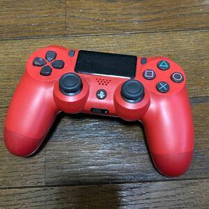 中古ワイヤレスコントローラー PS4 PS4コントローラー レッド デュアルショック4 DUALSHOCK DUALSHOCK4