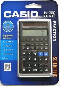 CASIO (カシオ) 関数電卓 fx-260 SOLAR Ⅱ ブリスターパッケージ 未開封品