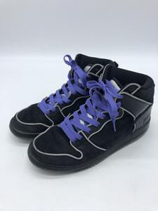 【中古】NIKE DUNK HIGH ELITE SB BLACK Purple BOX 833456-002 27cm ナイキ ダンク スニーカー ブラック パープル ストリート [2400193431