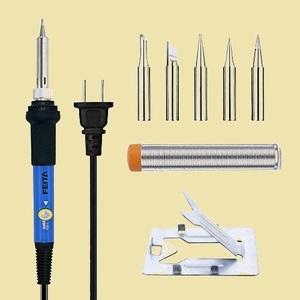 セール 新品   電気ハンダゴテセット Y-RL フレ-ム、13g半田線、家電修理 溶接工具 FEITAはんだごて 温度調節 AC110V