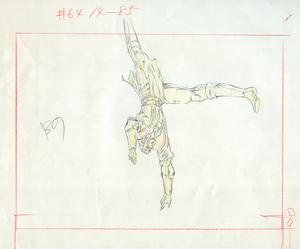 Aセル画 原画 北斗の拳 其の489