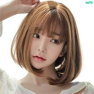 女性用 ウィッグ セミロング ボブ ショート カール ふんわり かつら 自然 小顔 耐熱 医療 レディース イメチェン ネット付き ブラウン