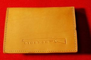 No.SL-001 牛革製・銃所持許可証入れ・47都道府県size適応・許可証・札入れ・カードポケット付