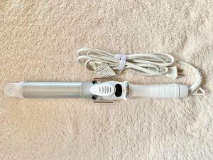 サロニア SL-008SW32 ホワイト セラミック カール ヘアアイロン 32mm 海外対応 プロ仕様 MAX210℃  