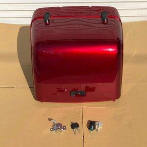 ジャイロキャノピー TA02 ワゴンタイプ 純正タイプ リア ボックス BOX ワインレッド キーシリンダー 鍵 付き 社外品