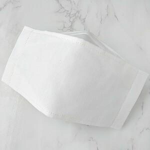 ハンドメイド 綿ポリホワイト 接触冷感 大臣風 立体 インナー 大人用 アイロン不要 クールマックス 箱型 舟形