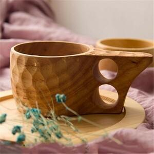 ♪安心取引 1円~♪北欧 フィンランドでも大人気!今話題の木製マグカップ ククサ キッチン コップ アウトドア キャンプ 選べる4種類