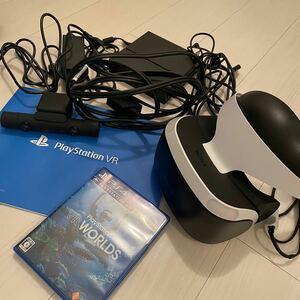 PlayStation VR 本体 PSカメラ VR WORLDSソフトおまけ