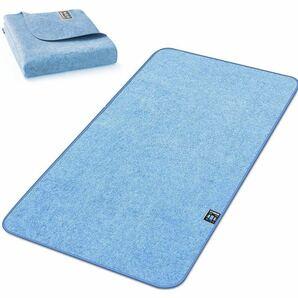 除湿シート 寝具用除湿マット シリカゲル入り 洗える 吸湿シート 吸湿センサー付き 敷きパッド 防ダニ 調湿シート (ブルー, 90x180cm)
