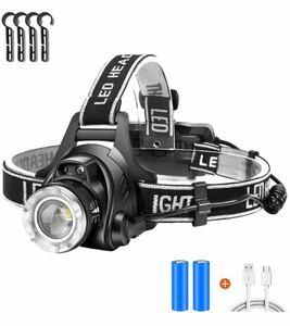 led ヘッドライト 充電式 usb 高輝度 CREE LED 1600ルーメン 明るい ヘッドランプ ズーム