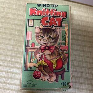野村トーイ 当時物 猫 貴重 ゼンマイ 美品 送料無料