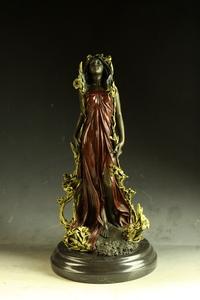 【永楽】大人気ブロンズ像 花の女神像 Nick 作インテリア 彫刻 銅像