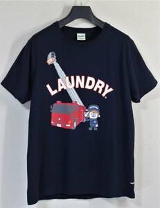 ◆Laundry ランドリー◆横浜市消防局 コラボ Tシャツ 紺:L