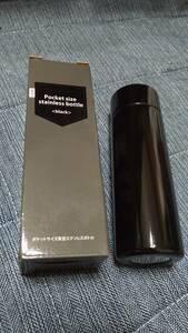 ポケットサイズ 真空ステンレスボトル ブラック 140ml