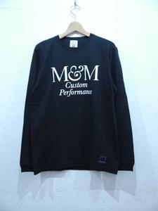 M&M PRINT L/S T-SHIRT(21-MT-024)/BLACK/Lsize/釘/新品・未使用品