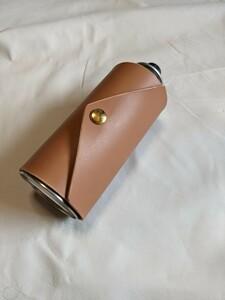 ヌメ革 レザーCB缶カバー ライトブラウン
