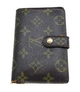ルイヴィトン LOUIS VUITTON モノグラム ポルトフォイユ ヴィエノワ 二つ折り財布 がま口 M61674 ブラウン 茶 メンズ/レディース