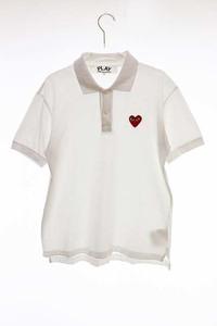 プレイコムデギャルソン PLAY COMME des GARCONS AD2012 AZ-T006 ハートワッペン ポロシャツ 半袖 M 210913 メンズ