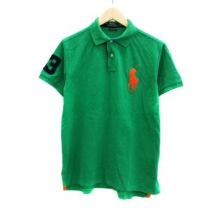 ポロ ラルフローレン POLO RALPH LAUREN ポロシャツ 半袖 ロゴ刺繍 ビッグポニー M 緑 グリーン オレンジ /YS5 メンズ