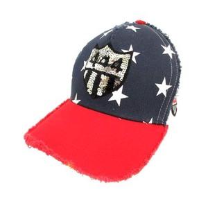 ヨシノリコタケ デザイン YOSHINORI KOTAKE DESIGN キャップ 野球帽 帽子 メッシュ ロゴ 星 スター 白 ホワイト 赤 レッド 紺