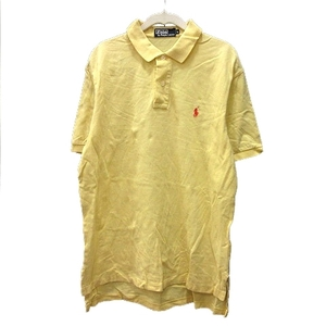 ポロ バイ ラルフローレン Polo by Ralph Lauren ポロシャツ ワンポイント 半袖 L 黄色 イエロー /MN メンズ