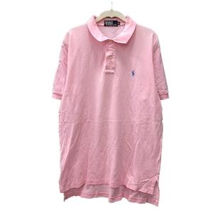 ポロ バイ ラルフローレン Polo by Ralph Lauren ポロシャツ ワンポイント 半袖 L ピンク /MN メンズ