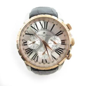 Salvatore Marra サルバトーレマーラ 腕時計 ウォッチ クロノグラフ クォーツ シルバー ピンクゴールド ブラック メンズ