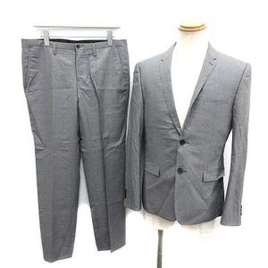 ブラックバレット バイ ニールバレット シングルスーツ セットアップ 上下 テーラードジャケット 2B センターベント パンツ 3 L グレー