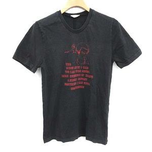 ディオールオム Dior HOMME エディ期 05AW Tシャツ カットソー クルーネック 半袖 XXS 黒 ブラック /YM ■EC メンズ