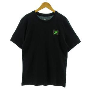 未使用品 ナイキ NIKE Tシャツ 半袖 丸首 バックプリント ブラック 黒 マルチカラー M メンズ