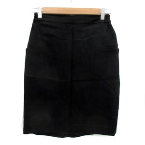 フレームワーク Framework タイトスカート ひざ丈 無地 ウール混 38 黒 ブラック /YS8 レディース