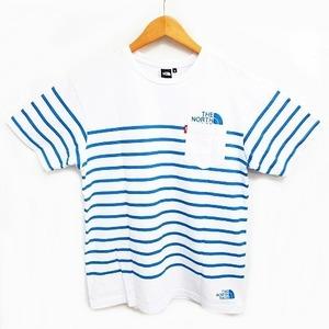 ザノースフェイス THE NORTH FACE セオアルファポケットTシャツ ポケT 半袖 カットソー ボーダー ロゴ クルーネック トップス アウトドア